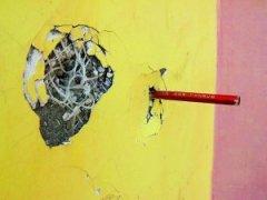 外墙保温材料铅笔能插入?
