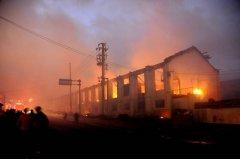 保温材料厂房失火