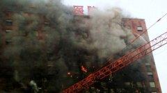 在建大楼因保温材料起火